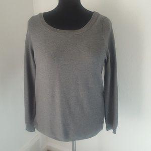 Sweaterworks Ribbed Grey Sweater Size XL